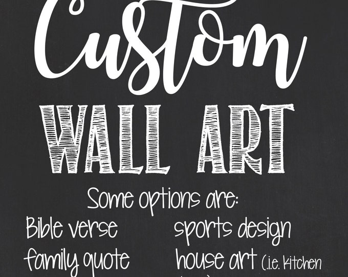 Personalized Wall Art/Custom Chalkboard Wall Art/Custom Wall Art/Custom Printable Home Decor/Home Decor/Wall Art/Personalized Home Decor