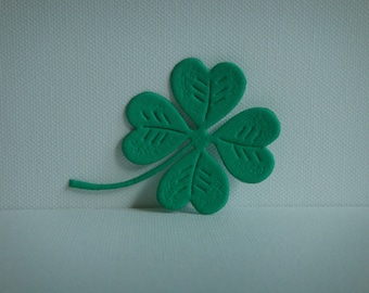 Green clover cut foam for creation