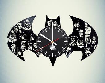 Batman Arkham City Vinyl Record Wall Clock
