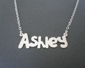 Personalized Sterling Silver Name Necklace - Custom Name Necklace - Baby Name - Children Names Necklace - Custom Name Gift - Bridesmaid Gift
