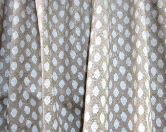 PAIR  LINED Drapes Sahara Chalk Lacefield fabric