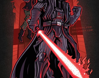 Star Wars Poster - Darth Vader Poster Print - Star Wars art
