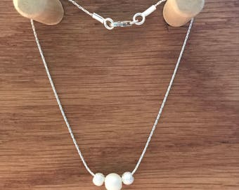 Swarovski pearl and stardust beaded bracelet