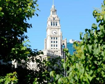 Canvas Print, Chicago Photography, Chicago Art, Wrigley Building, Travel Fine Art Photograph, Chicago Home Decor, Large Wall, Chicago Photos