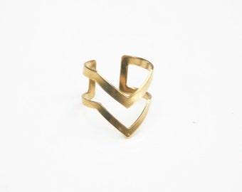 Chevron - a decorative brass ring