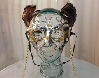 Silver and Gold Butterfly Mask