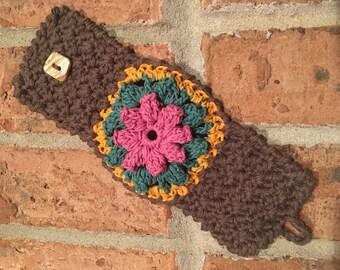 Flower Mandala Cuff Bracelet