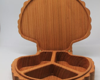 Shell shaped box in Cherry