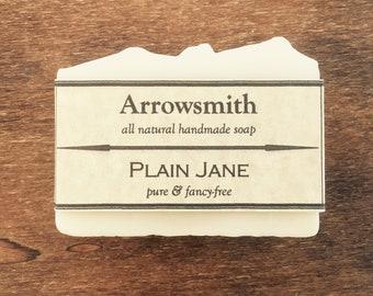 Plain Jane Soap • Pure Soap • 100% Natural Soap • Vegan Soap • Palm Free Soap • Unscented Soap • Handcrafted Soap • Gentle Soap