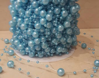 1 meter of stripes of blue beads