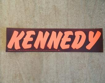 Vintage John F. Kennedy  Bumper Sticker 1960 Election