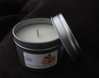 """Candle organic essential oils """"of Sweet Orange in Italy"""""""