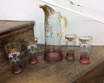 Vintage Water Jug and Glasses
