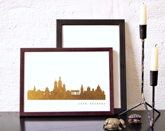ST. PETERSBURG Art Print, St. Petersburg Artwork, St. Petersburg Decor, St. Petersburg Poster, St. Petersburg Wall Art, Skyline