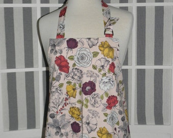 Garden Roses Kitchen Apron - Free or Priority Shipping