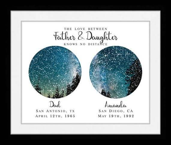 Another absolutely perfect gift to show that the love between dads and kiddos knows no distance--this star view print is absolutely stunning and the perfect gift for star-loving-dads.