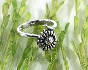 Flower, ring, 925 sterling silver