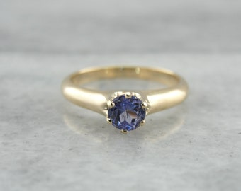 Sweet Light Blue Simple Sapphire Solitaire Ring Y1W7N9-R