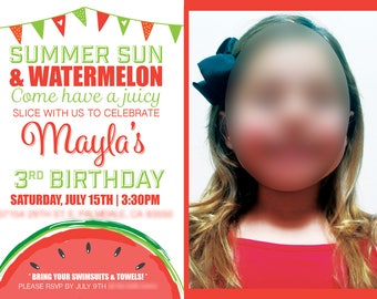 Watermelon Birthday Invitation | Digital File