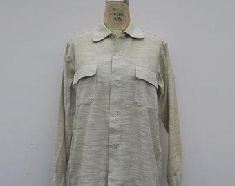 0801 - 50s - Beige Stitch - Button Down