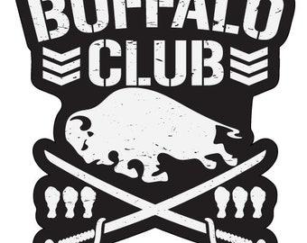 Buffalo Club Bullet Club Car Vinyl Decal WWE ROH NJPW Wrestling