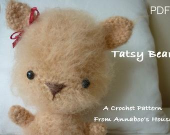 Oso de peluche oso Tatsy PDF patrón de ganchillo