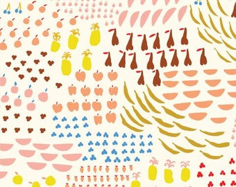 An Apple A Day - To Market To Market - Emily Isabella - Cloud9 Fabrics - Organic Cotton Fabric By the Half Yard