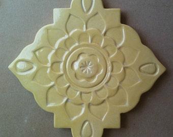 Ceramic trivet, art tile, wall hanging