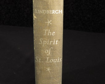 The Spirit of St. Louis Hardcover Book by Charles Lindbergh 1953 Charles Scribner's Sons New York