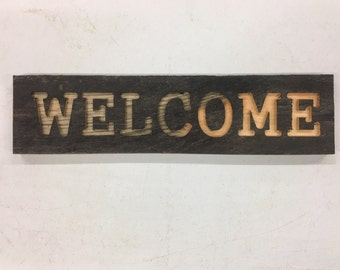 Rustic Pine Welcome Sign