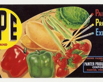 10 Old VEGETABLE CRATE LABELS Guadalupe,Calif.,Salinas,El Centro,Etc..