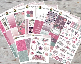 Pretty Rustic   DELUXE Weekly Kit   Planner Stickers   Vertical ECLP