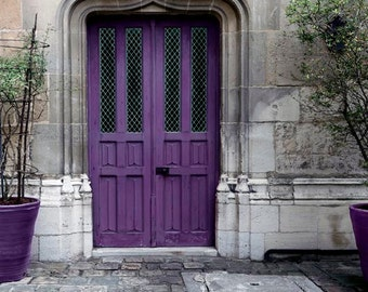 Purple Door Print Paris Photography Gray Purple Plum Rustic Architecture & Purple Door Paris Print Paris Door Gray Purple Paris