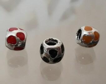 Silver Charms,925 Silver Beads,Fit Pandora Bracelet,Pendant,Heart Charm,Love Charm