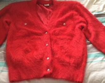 80% Fluffy Fully Lined Angora Cardigan/jacket