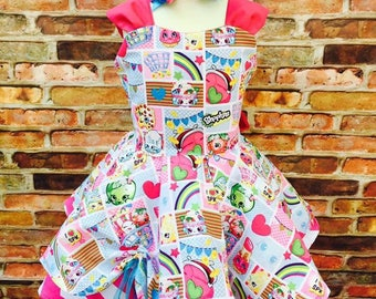 Shopkins dress (100% made from scartch)