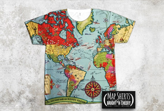 Boston Vintage Map Shirt, I love boston all over print tee, boston gift, unique t shirt cool graphic tee boston pride t shirt