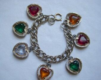 ART Heart Charm Bracelet