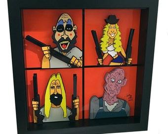 Captain Spaulding The Devil's Rejects Horror Pop Art House of 1000 Corpses 3D Artwork