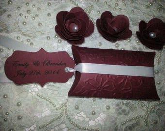 100 WILDFLOWERS WEDDING  FAVORS Custom Bride & Groom Names