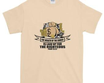 Richesse du pécheur à manches courtes T-Shirt