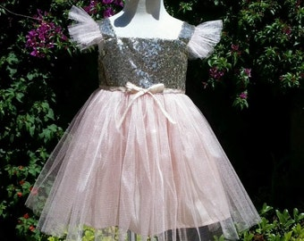 Sparkling Boutique Tutu Dress with Bow Included