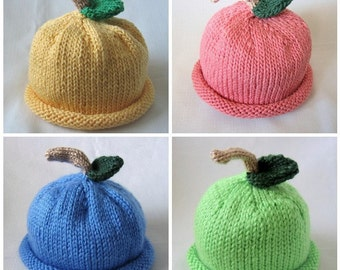 Boston Beanies Fruit Hat, Knit Berry Cotton Baby Hat