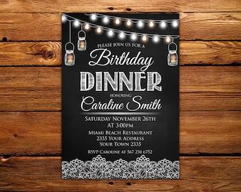 invitation for birthday dinner