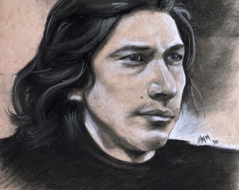 Kylo Ren - Star Wars: The Force Awakens - Adam Driver - Portrait - Art Print
