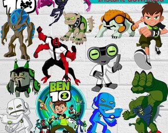 Ben 10 ClipArt-Printable.Ben 10 ClipArt. Ben 10 Birthday Party PNG Images-Digital, instant download
