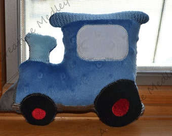 Stuffed plush toy Train Embroidery Design - Instant download