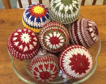 Christmas Ornament, Crochet Christmas Ornaments, Christmas, Ornament, Bauble, Handmade Ornament, Crochet Bauble, Crochet  Ball Ornament