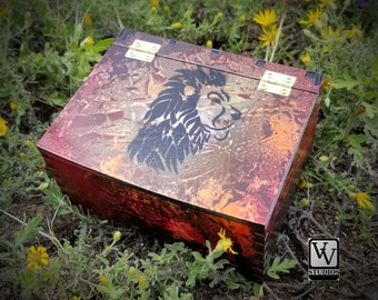 Lion Spirit of Fire Box Painted