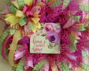 Spring_Summer, Front Door, Bedroom, Deck, Front Porch, Living Room, Dining Room, Home Sweet Home Wreath